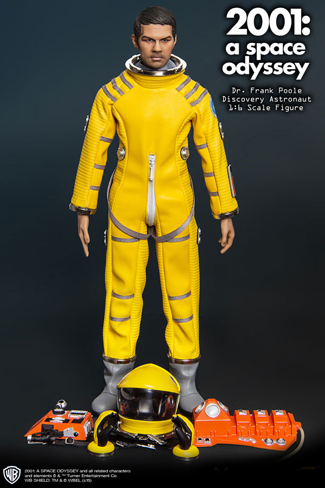 "2001: A Space Odyssey Yellow Discovery Astronaut Dr. Frank Poole 1/6 Scale 12"" Figure Gary Lockwood by Executive Replicas"