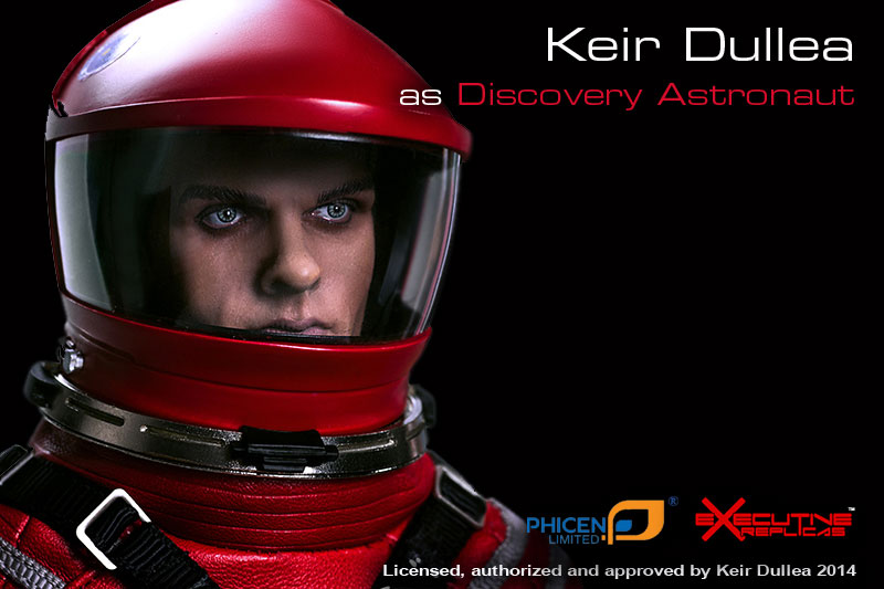 "2001: A Space Odyssey Red Discovery Astronaut Dr. Dave Bowman 1/6 Scale 12"" Figure Keir Dullea by Executive Replicas"