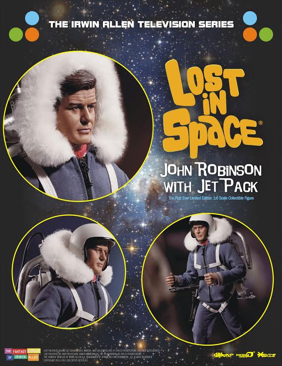 Lost In Space John Robinson with Jet Pack Guy Williams 1/6 Scale Figure LIMITED EDITION by Executive Replicas