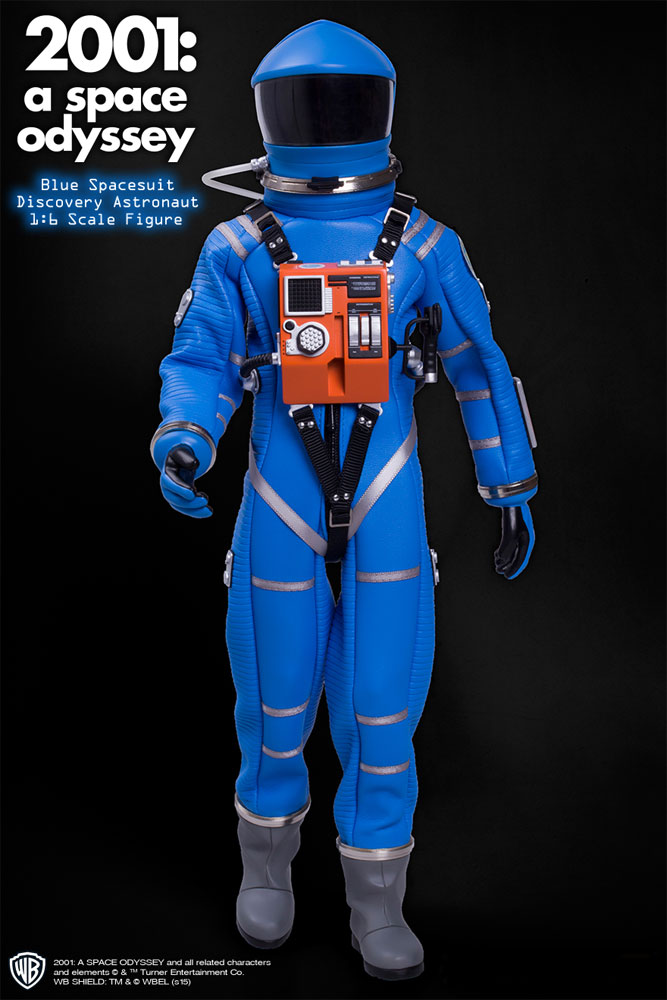 "2001: A Space Odyssey Blue Discovery Astronaut 1/6 Scale 12"" Figure Spacesuit"