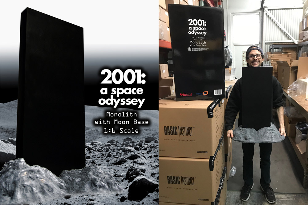 2001: A Space Odyssey 1/6 Scale Monolith and Moon Base Diorama