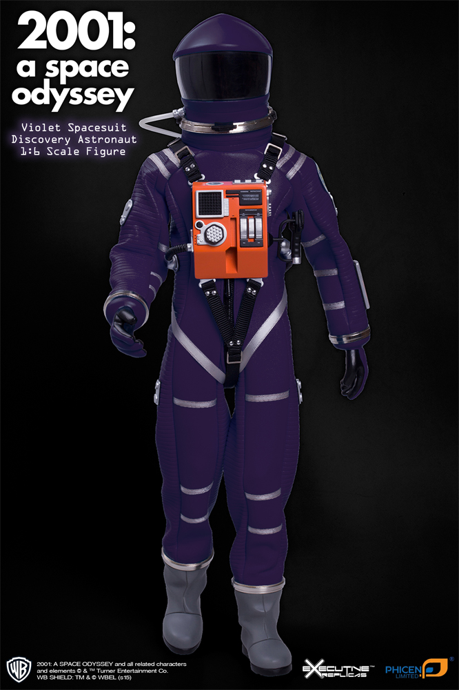 2001: A Space Odyssey Violet Discovery Astronaut 1/6 Figure Spacesuit