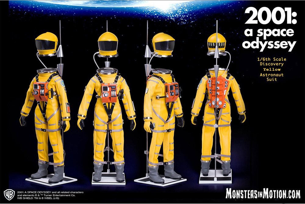 2001: A Space Odyssey 1/6 Scale Yellow Astronaut Space Suit Replica LIMITED EDITION