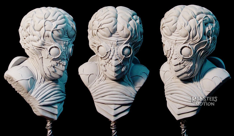 This Island Earth Metaluna Mutant 1/4 Scale Bust Model Kit