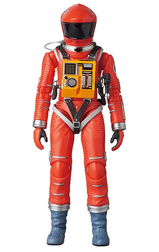 "2001: A Space Odyssey Orange Space Suit 6"" Miracle Action Figure by Medicom Dr. Dave Bowman"