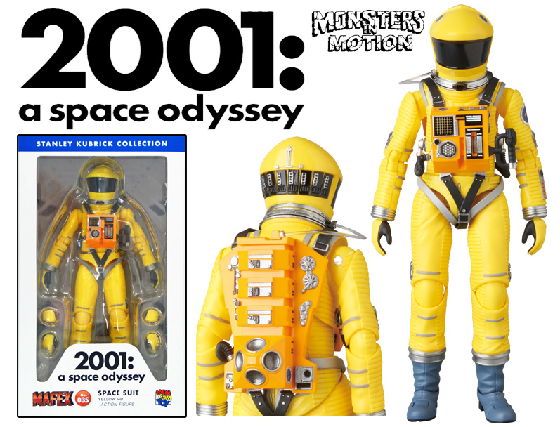 2001: A Space Odyssey Astronaut Space Suite Yellow Version MAFEX No.035 Dr. Frank Poole by Medicom Japan