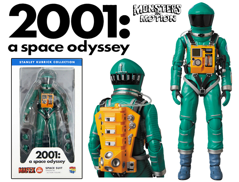 2001: A Space Odyssey Astronaut Space Suite Green Version MAFEX No.089 by Medicom Japan
