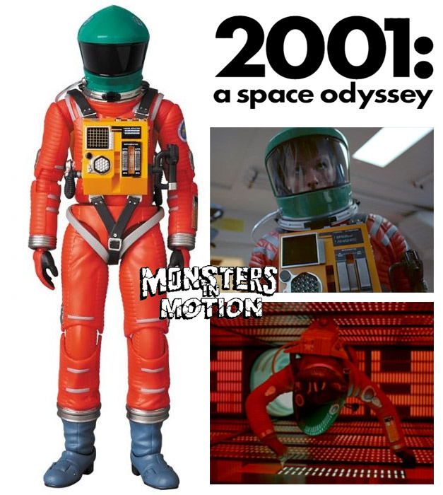 2001: A Space Odyssey Astronaut Space Suite Orange with Green Helmet Version MAFEX No.110 Dr. Dave Bowman by Medicom Japan