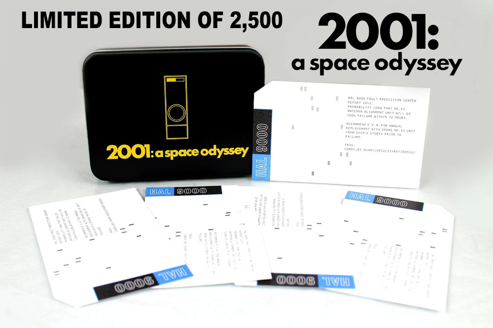 2001: A Space Odyssey Hal 9000 Collectors' Tin with AE-35 Card Set Prop Replica