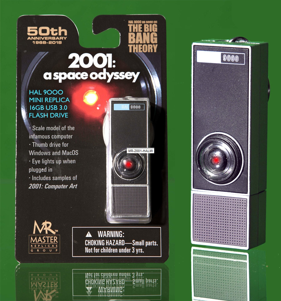2001: A Space Odyssey Hal 9000 1/6 Scale 16GB USB 3.0 Flash Drive