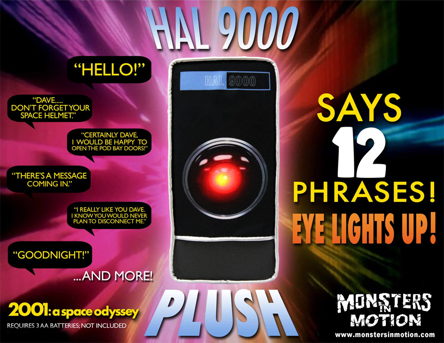 2001: A Space Odyssey Hal 9000 Electronic Plush