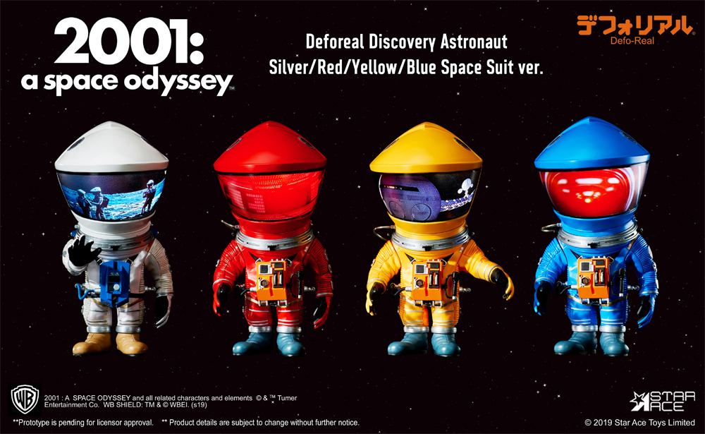 "2001: A Space Odyssey Defo-Real Silver Discovery Astronaut 6"" Figure by Star Ace"