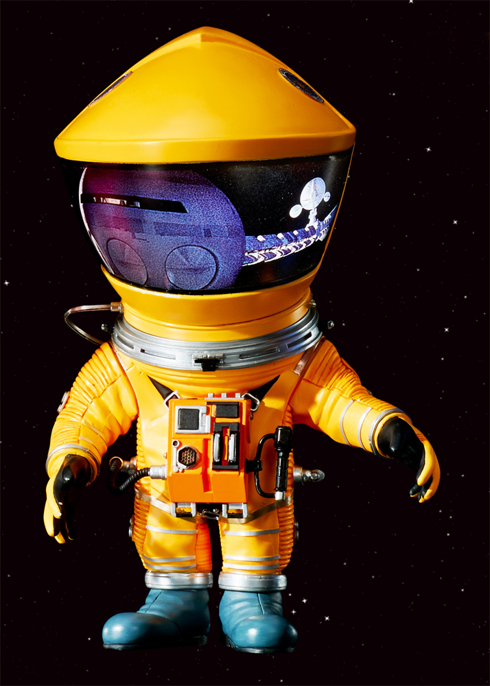 "2001: A Space Odyssey Defo-Real Yellow Discovery Astronaut 6"" Figure by Star Ace"