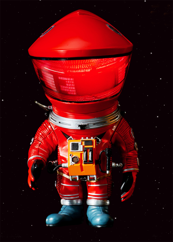 "2001: A Space Odyssey Defo-Real Red Discovery Astronaut 6"" Figure by Star Ace - Click Image to Close"