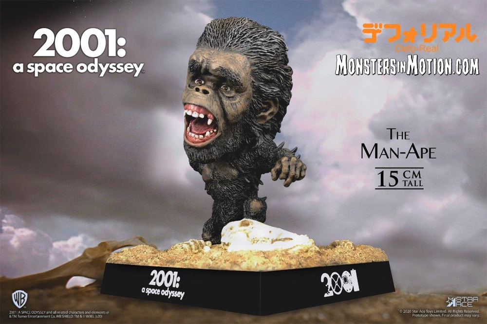 "2001: A Space Odyssey Defo-Real 2.0 Man-Ape with New Base 6"" Figure by Star Ace"