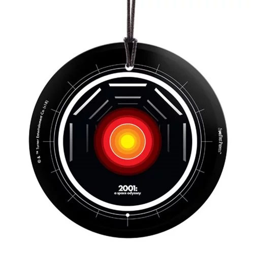 2001: A Space Odyssey HAL 9000 Hanging Glass Print by Starfire