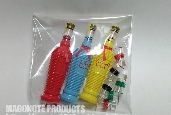 Blade Runner 1/6 Scale Qingdao Bottle + Glass Replicas 3 Colors Set Japan Import