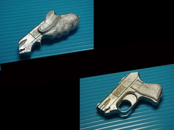 Blade Runner Leon's Gun 1/6 Scale Metal Model Kit Set of 2