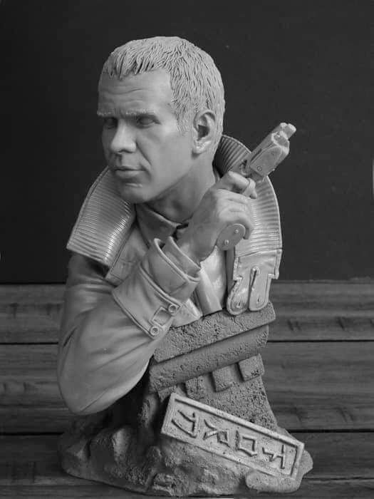 Blade Runner Deckard 1/4 Scale Bust by Jeff Yagher