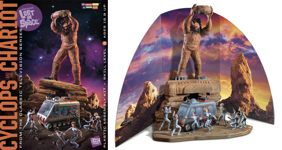 Lost In Space Cyclops and Chariot Aurora Re-Issue Model Kit