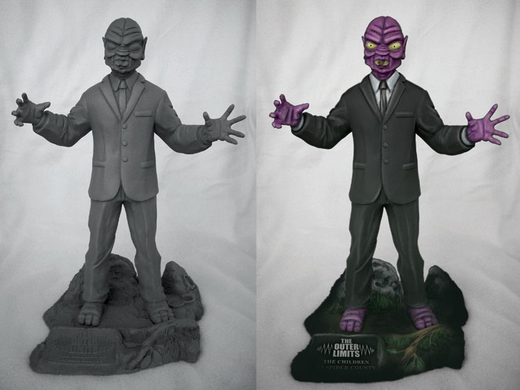 Outer Limits Eros The Children Of Spider County Resin Model Kit