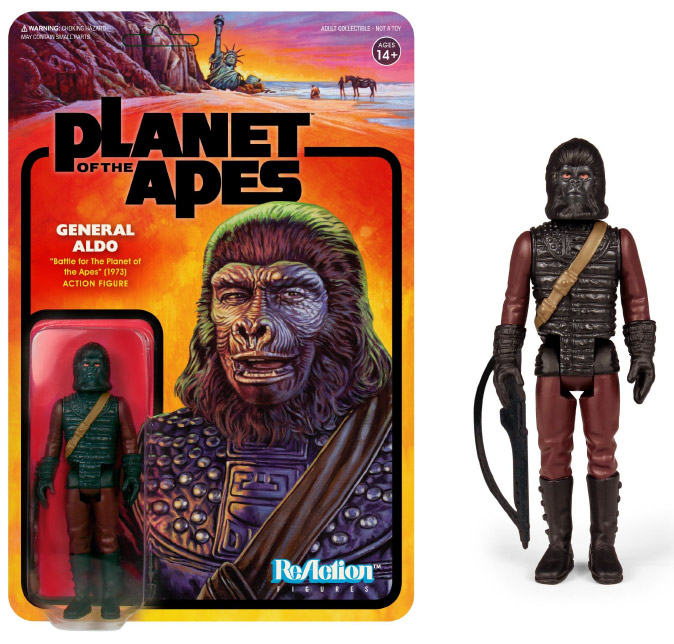 "Planet of the Apes Series 2 General Aldo 3.75"" ReAction Action Figure"