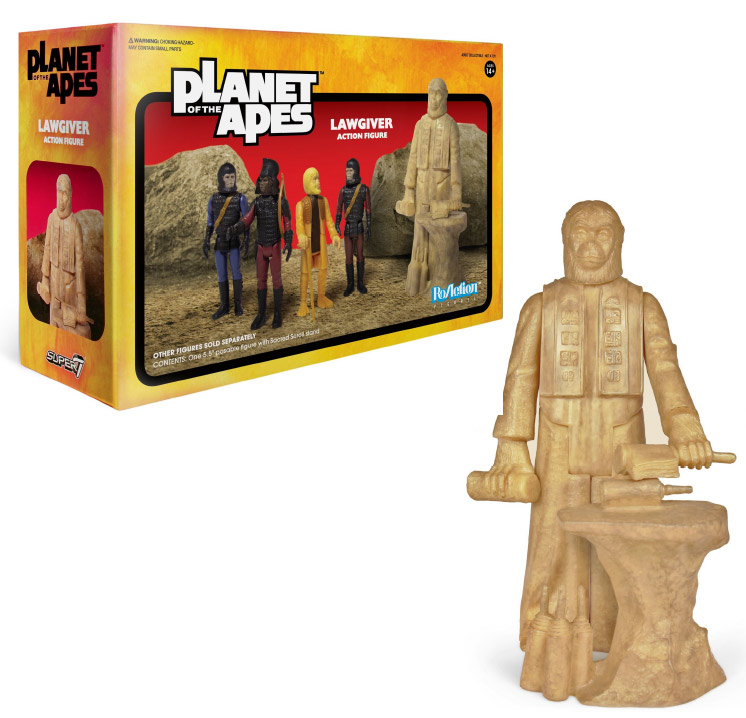 "Planet of the Apes Series 2 Lawgiver Statue 3.75"" Scale ReAction Action Figure"