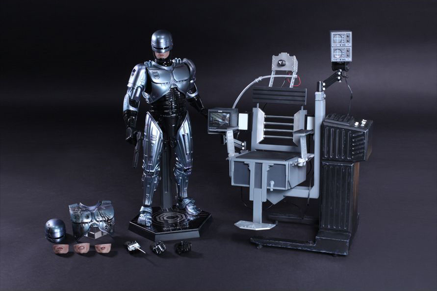 Figure 1//6 LOWER FACES #2 Hot Toys ROBOCOP Mechanical Chair Docking Station