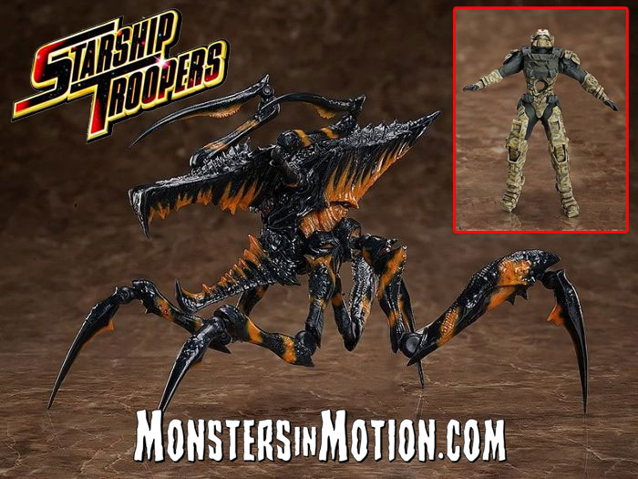 Starship Troopers Warrior Bug and Trooper Figure