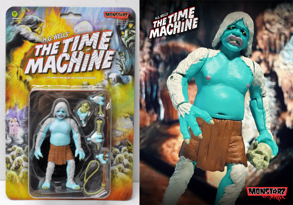 "Time Machine 1960 Cave Battle Morlock 3.75"" Scale Retro Action Figure by Monstarz"