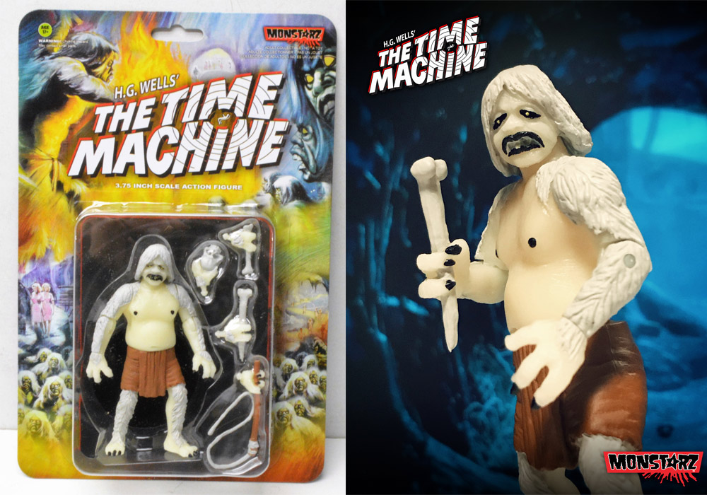 "Time Machine 1960 Glow Morlock 3.75"" Scale Retro Action Figure by Monstarz"