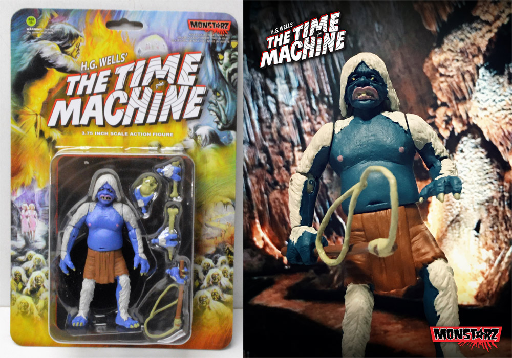 "Time Machine 1960 Midnight Attack Morlock 3.75"" Scale Retro Action Figure by Monstarz"