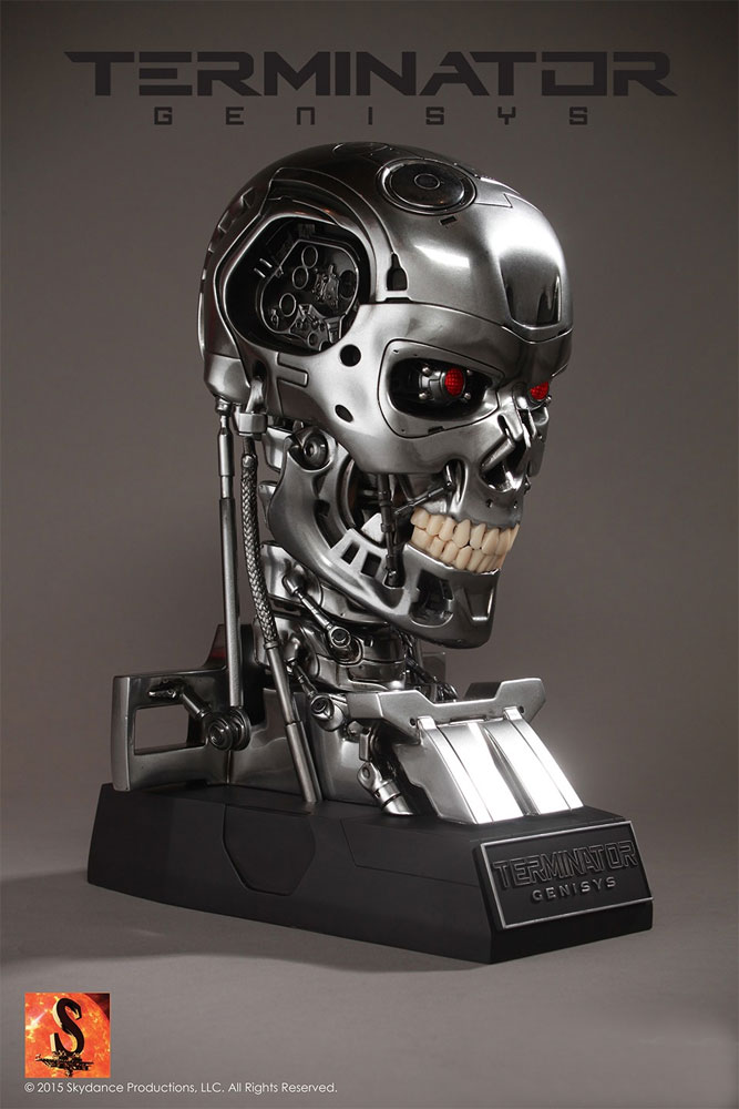 Terminator Genisys Endoskeleton Skull Prop Replica Display