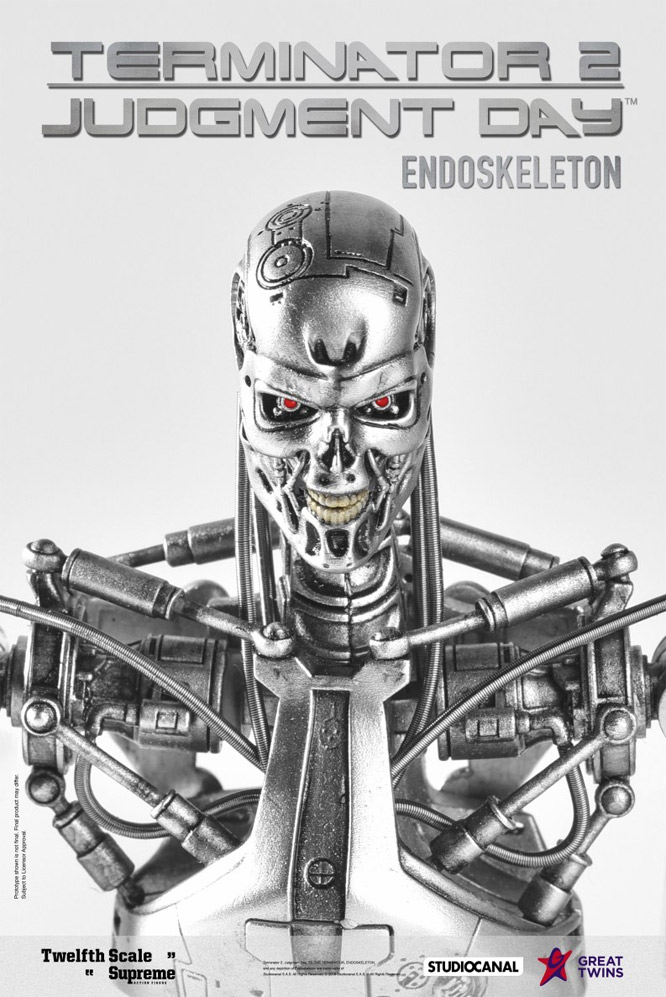 Terminator 2: Judgement Day Endoskeleton 1/12 Scale Deluxe Exclusive Figure by Great Twins