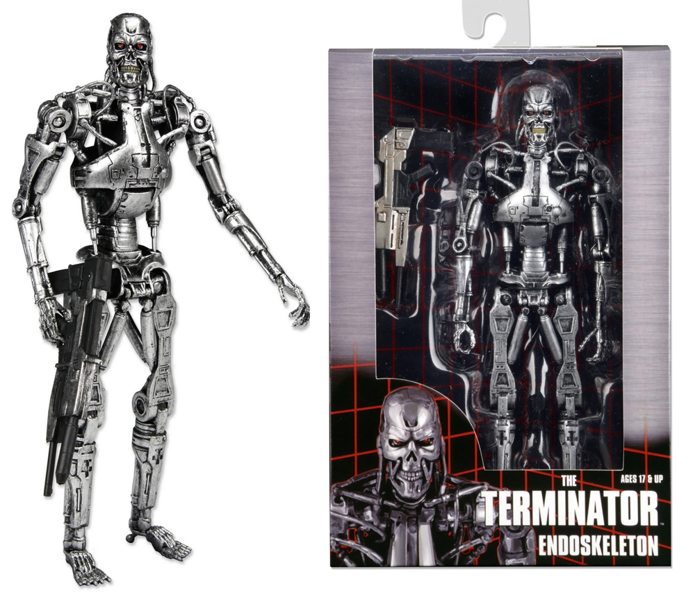 "Terminator 7"" T-800 Endoskeleton Action Figure In Windowbox Packaging Re-Issue"