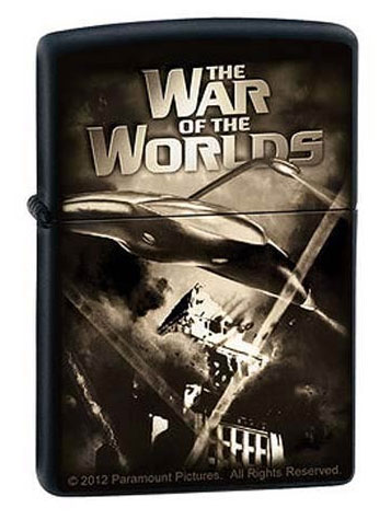 War of the Worlds Death Rays Black Matte Zippo Lighter