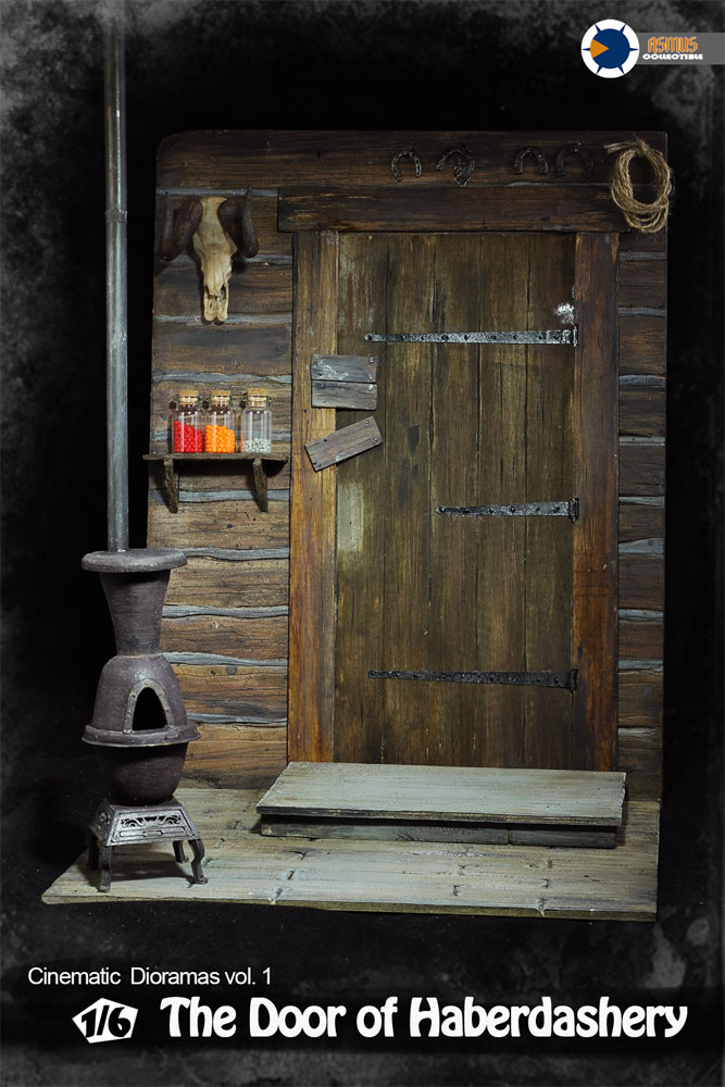 Door to Haberdashery 1/6 Scale Figure Base Diorama with Lights