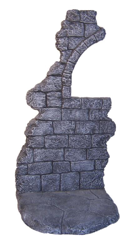 "Stone Wall Diorama Base 1/6 Scale Resin Model Kit for 12"" Figures"