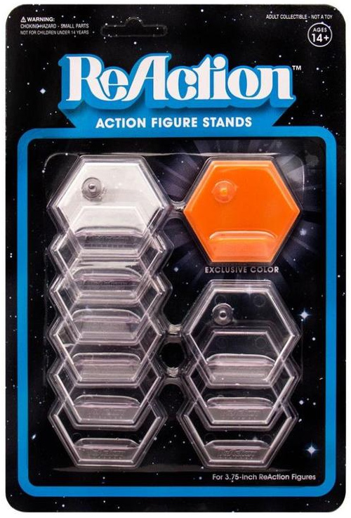 "ReAction Action Figure Base Stands for 3.75"" Figures Set of 10"