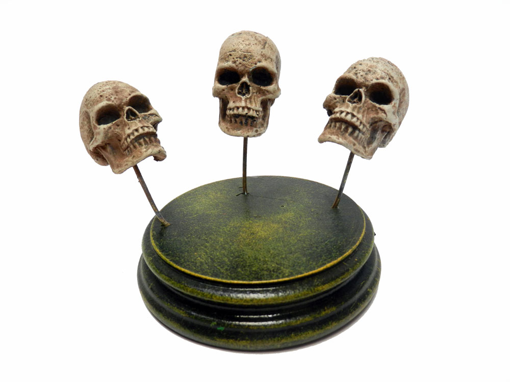 Human Skull Resin Model Set of (3) For Customizing Kits