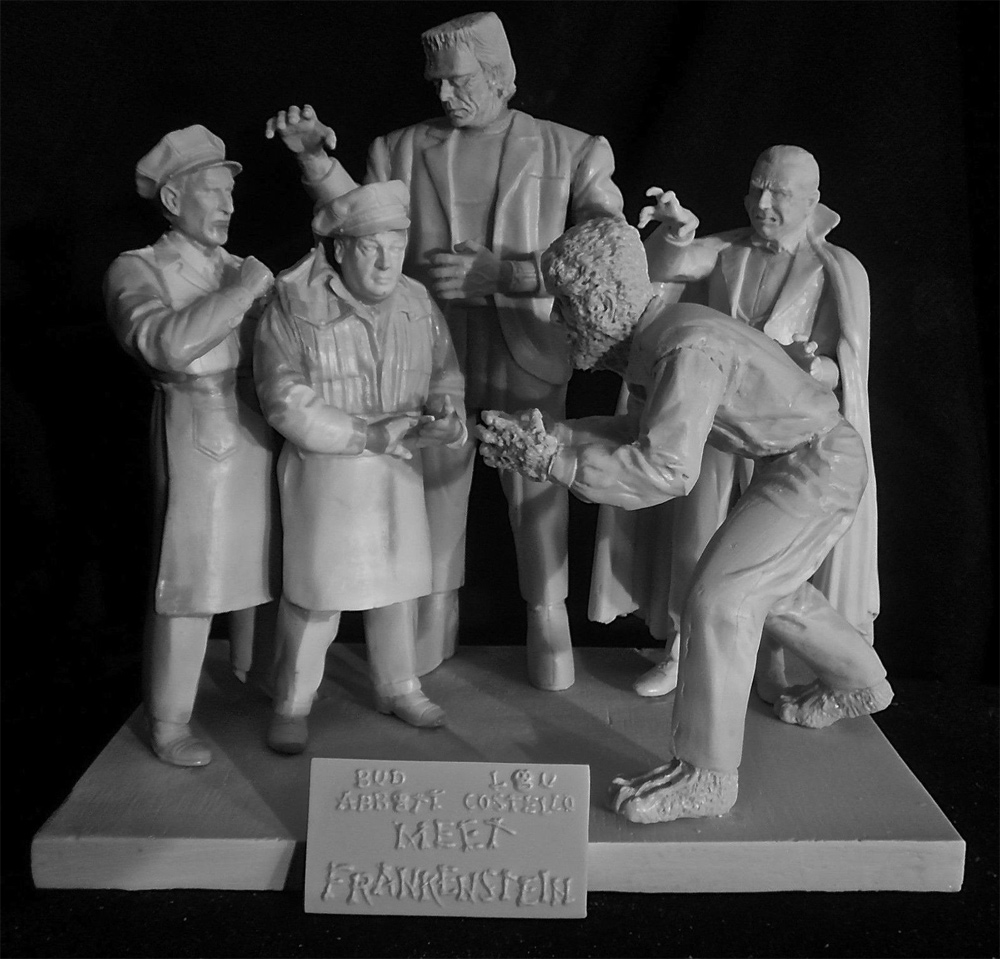 A.C. Meet Frank Aurora Monster Scenes Scale Production Photo 5 Figure Model Kit