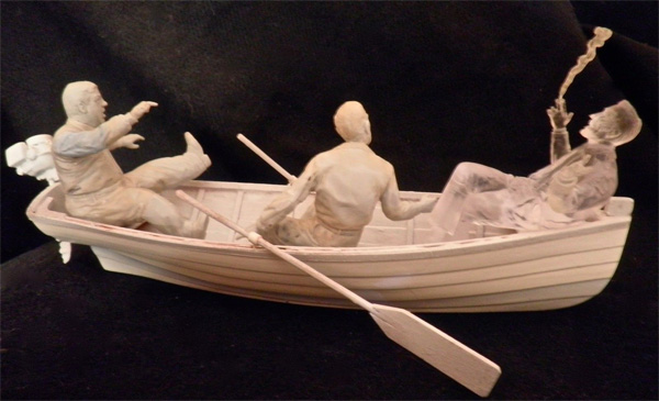 Invisible Man with Rowboat, Chick and Wilbur Aurora Monster Scenes Scale Resin Model Kit