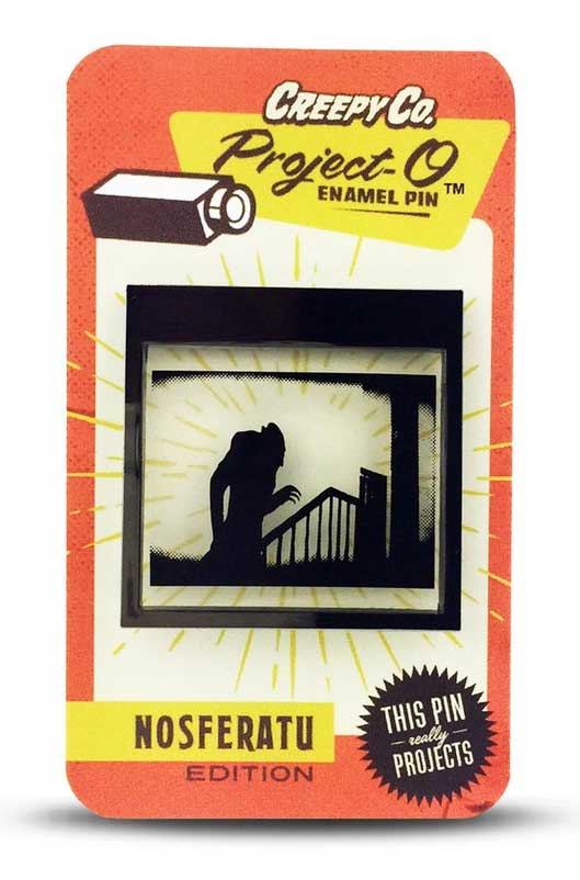Nosferatu Project-O Light Up Enamel Pin