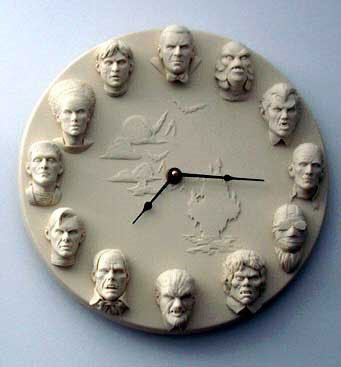 "Classic Horror Heads 1/6 Scale 12"" Clock Model Kit"
