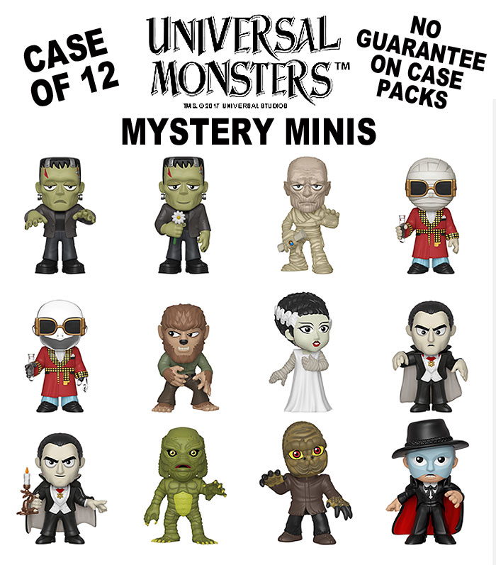 Universal Monsters Mystery Minis Figures Case of 12 by Funko