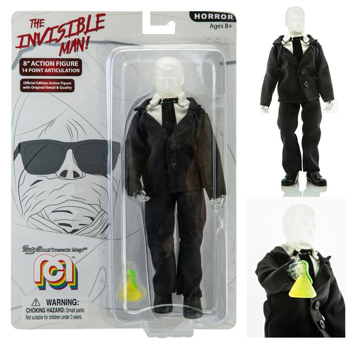 "Invisible Man 8"" Action Figure by Mego"