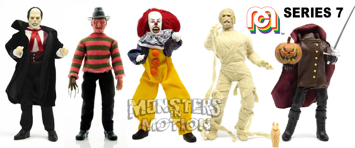 "Mego Horror 8"" Action Figure Wave 7 Set of 5 Figures"