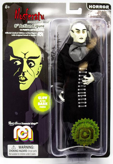 "Nosferatu Glow Vampire Count Orlock 8"" Action Figure by Mego"