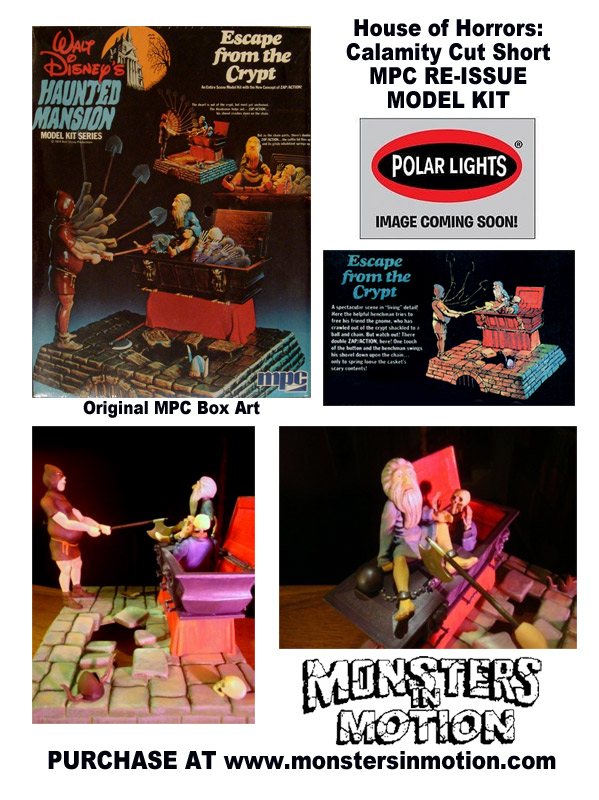 House of Horrors: Calamity Cut Short / Haunted Mansion Escape From The Crypt MPC Re-Issue Model Kit by Polar Lights