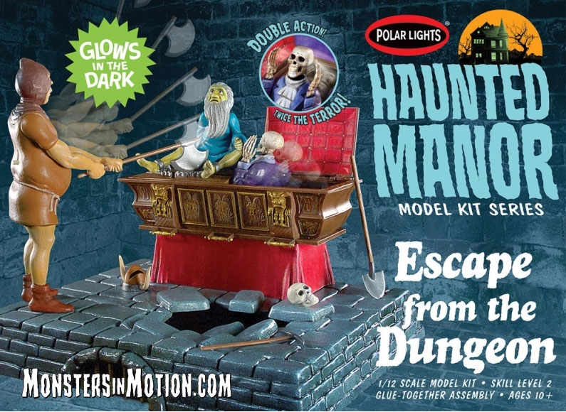Haunted Manor Escape From The Dungeon MPC Re-Issue Model Kit by Polar Lights